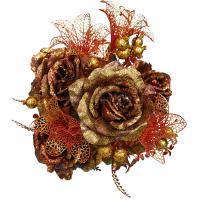Букет роз с парчой